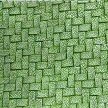 纺棉绒底多彩编织纹 半PU革 箱包革装饰革