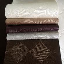 厂家直销环保半PU人造革 细编织纹压花合成革 沙发软包皮革面