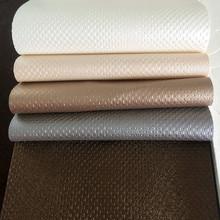 厂家直销化妆箱工艺品礼盒皮料压延印花 方块纹人造革 PU皮革