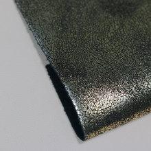 金歆尚皮革新品上市pu金属爆裂纹纺棉纶1.0mm用于鞋、包等