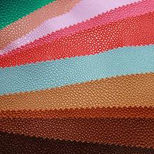 义乌厂家直销新款毛底半PU珍珠鱼纹人造革 箱包沙发服装革