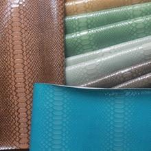义乌厂家直销高光半PU蛇纹人造革 箱包时装包鞋子装饰皮革面料