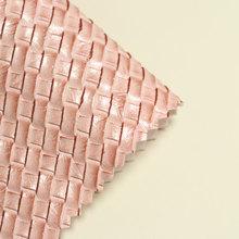 现货供应 PVC 编织纹 拉毛底 适用于箱包 、手袋