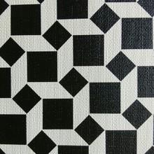 集泰皮革 现货供应印刷大小格纹 手袋箱包 餐椅网吧椅家具革