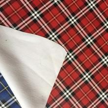 现货供应8175新款米兰大格子皮革双色仿格纹磅布底箱包手袋料