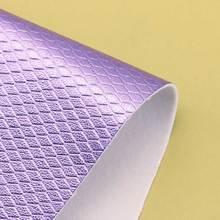 现货热卖 0.9mm PU菱形纹 金属方块