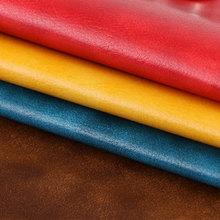 FU904 半PU油蜡皮纹仿棉绒1.0mm沙发革 家具革