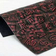 精品面料字母文字擦色PU革 1.1mm 用于箱包手袋、鞋革等