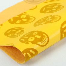 精品面料 植绒 PU骷髅纹 仿棉绒底1.0mm 适用于鞋 包