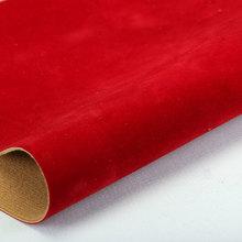 精品面料 植绒PU绒面纹  仿棉绒底1.2mm 适用于鞋包