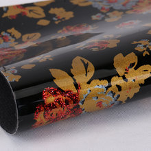 现货供应 淋膜PU花朵纹1.2mm 适用于手袋,钱包,书包