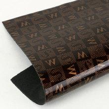 必买好货3D印刷PU字母文字纹仿棉绒底1.2mm用于箱包鞋材