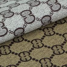 精品热销 印刷PVC艺术印花纹针织底0.6mm 适用于包装等