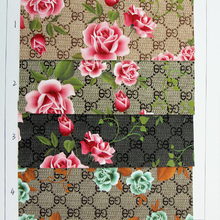 优质现货热销PVC数码打印花朵纹1.0mm箱包鞋革 装饰用