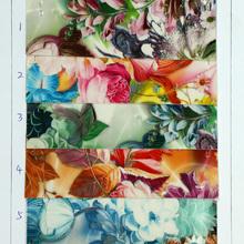 优质产品 淋膜 PU花朵植物纹 用于箱包,鞋,装饰等