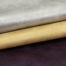 专业生产湿法pu羊巴烫金裂纹仿棉绒底1.0*54适用于:鞋革