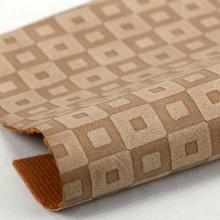 精品现货压花方 PU 仿棉绒底0.9mm 适用于鞋革等