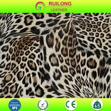 广州瑞隆热销欧美风格豹纹pu皮革 优质包材鞋材装饰革皮料