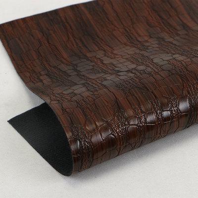 人气推荐 鳄鱼纹PU革仿棉绒底 1.0mm适用于鞋材眼镜盒等