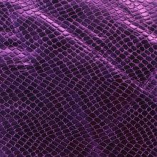 蜥蜴纹PU革 0.6mm 针织起毛底 金属 适用于鞋材等