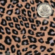 PU金葱粉淋漆豹纹仿棉绒底1.0mm适用于箱包手袋鞋革等