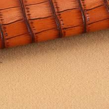 经典特色鳄鱼纹PU革 仿棉绒底 1.0mm 用于皮带、男包、鞋革等