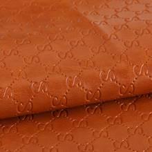经典特色字母纹PU革 仿棉绒底 1.2mm 用于皮带、男包等