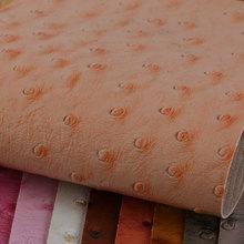 大颖产品新上线 喷涂PVC 鸵鸟纹 汗衣布底0.7mm 用于箱包手袋等