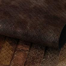 宽发烫金PU革 蛇纹 仿棉绒底0.9mm 用于鞋革等
