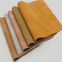 安利环保PU革  复古羊巴套色经典斜布纹  鞋材 箱包面料