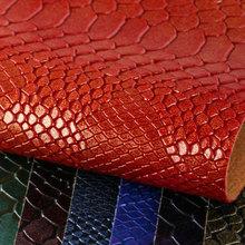 鑫茂盛 蛇纹PVC革 1.3mm仿棉绒底 喷涂、幻彩 适用于:箱包手袋、鞋革等、