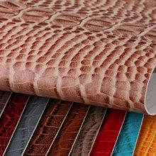 鑫茂盛 鳄鱼纹PVC革 1.2mm仿棉绒底 喷涂 适用于:箱包手袋、鞋革等、