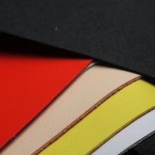 宏臻鞋材厂家直销1.6mm手感柔软PU皮革面料仿真皮箱包装饰